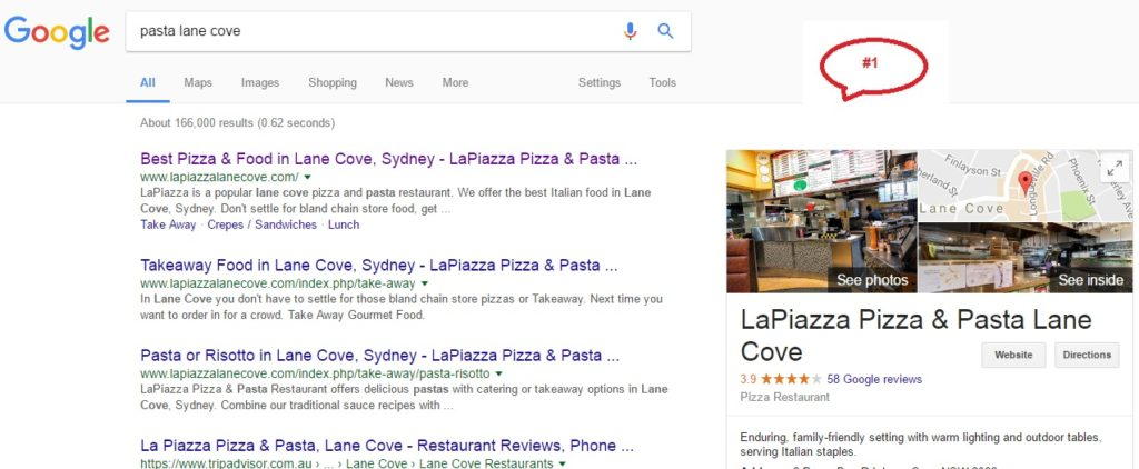 position 1 in Search lane cove