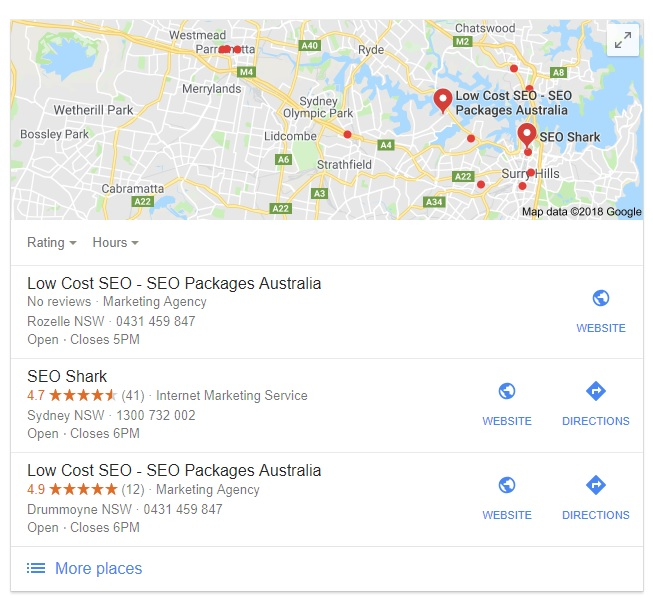 Local maps SEO Sydney